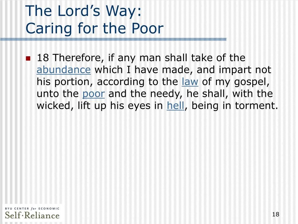 The Lord's Way: