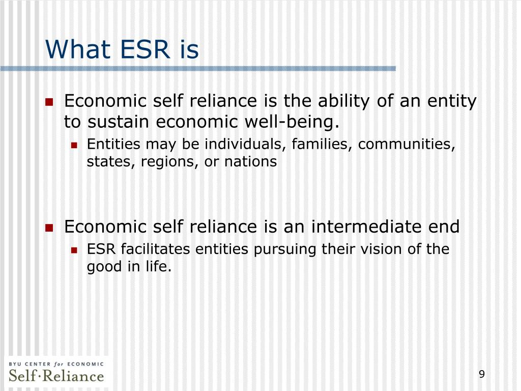 What ESR is