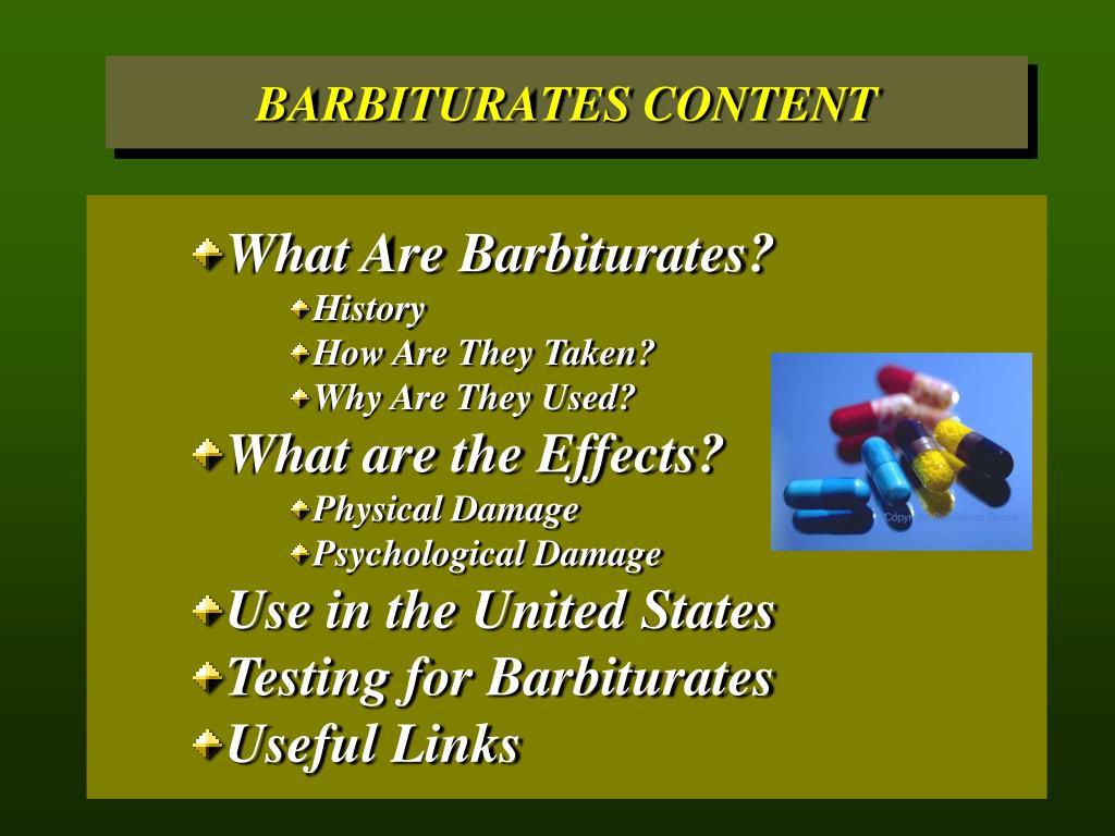 What Are Barbiturates?