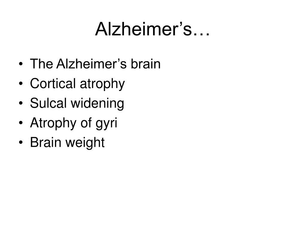 Alzheimer's…