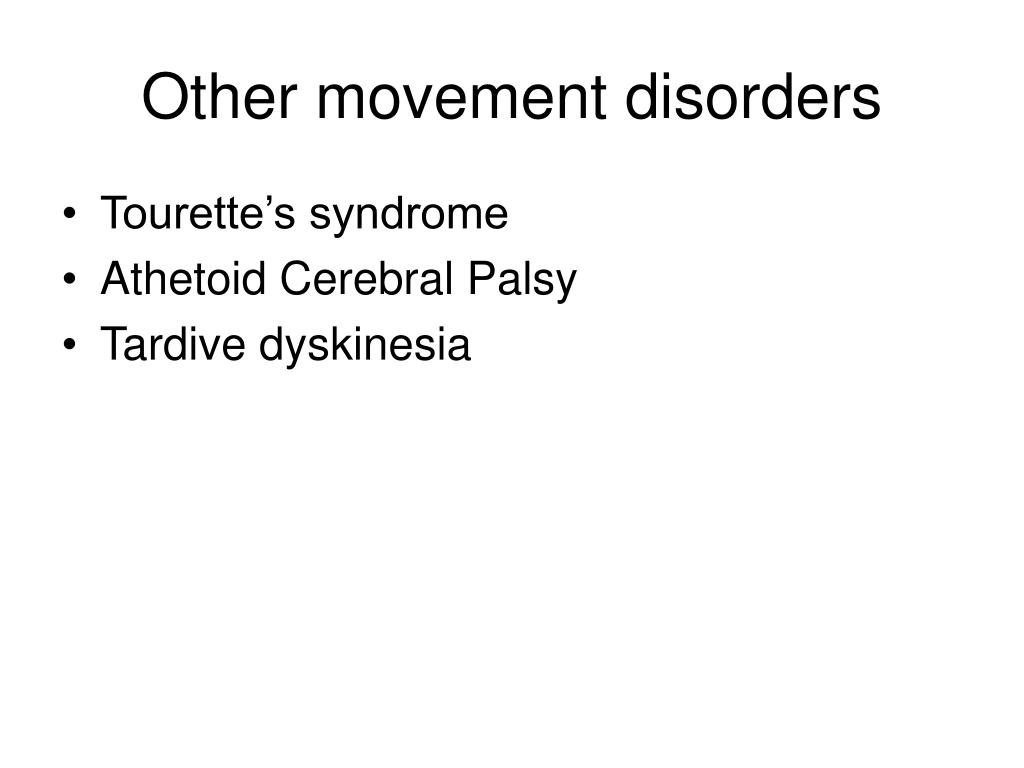 Other movement disorders