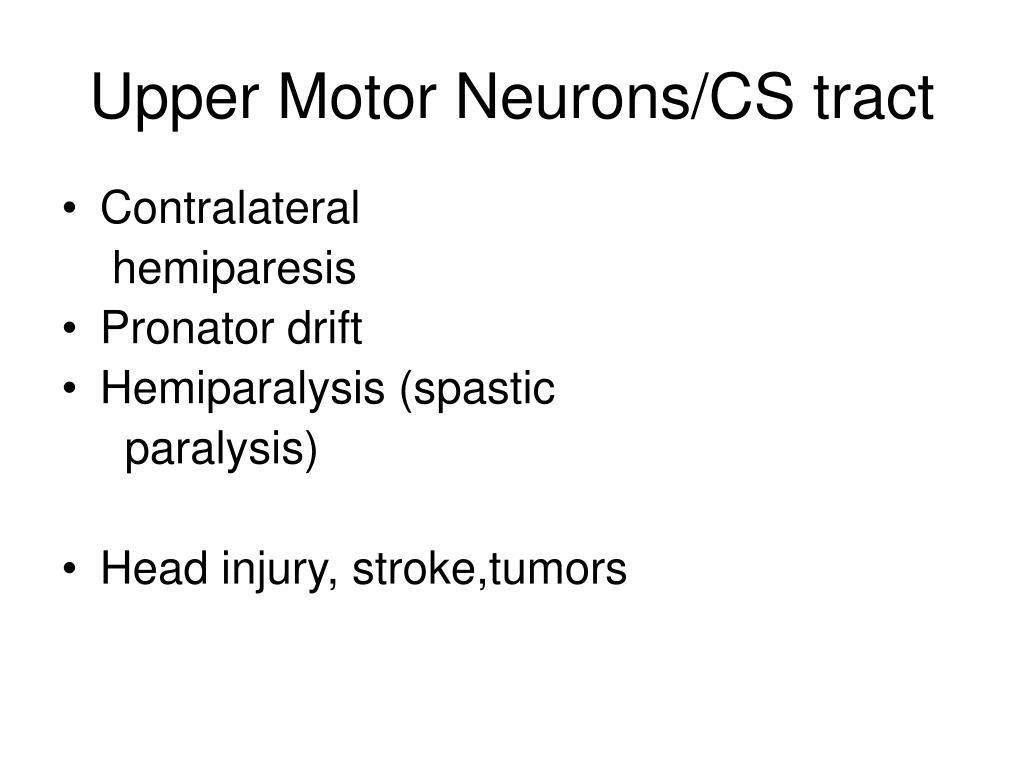 Upper Motor Neurons/CS tract
