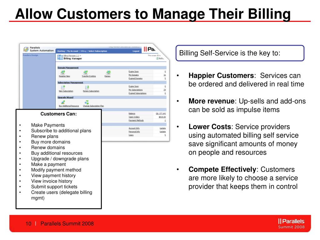 Allow Customers to Manage Their Billing