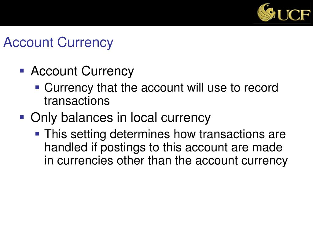 Account Currency
