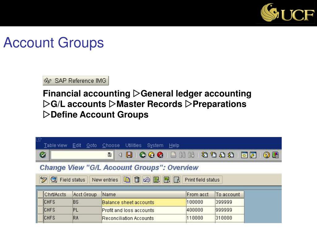Account Groups
