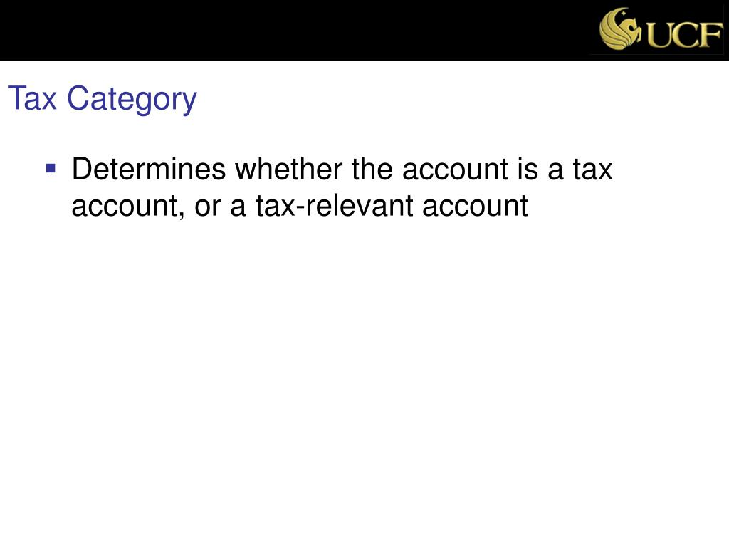 Tax Category