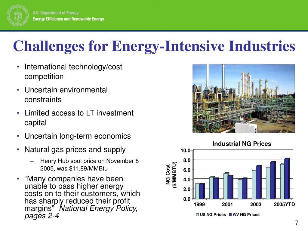 Challenges for Energy-Intensive Industries