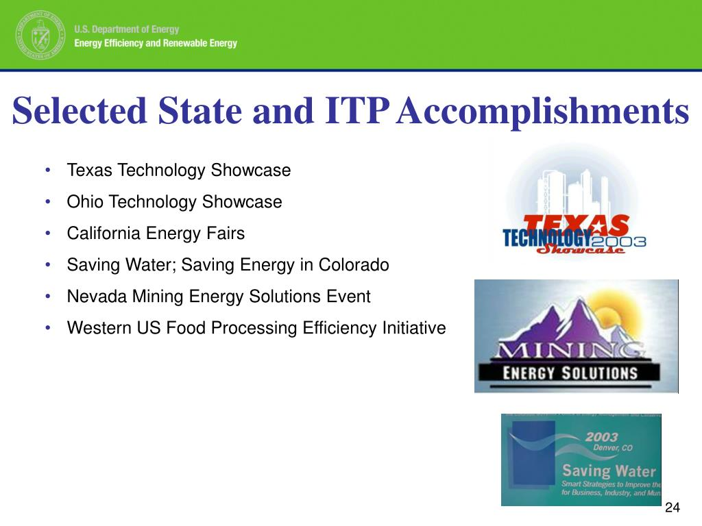 Selected State and ITP Accomplishments