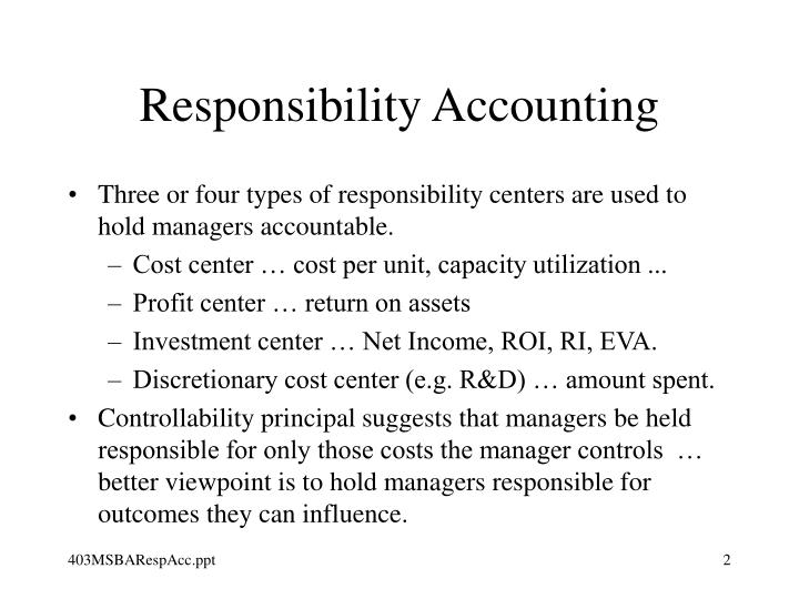Responsibility accounting2