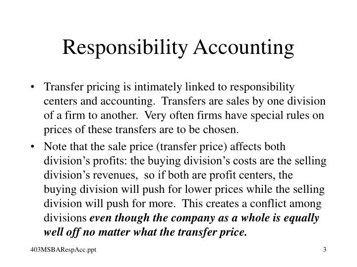 Responsibility accounting3