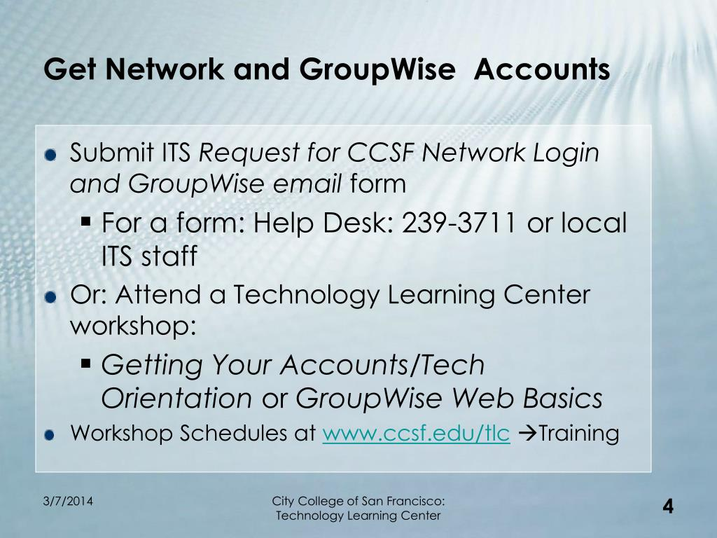 Get Network and GroupWise  Accounts