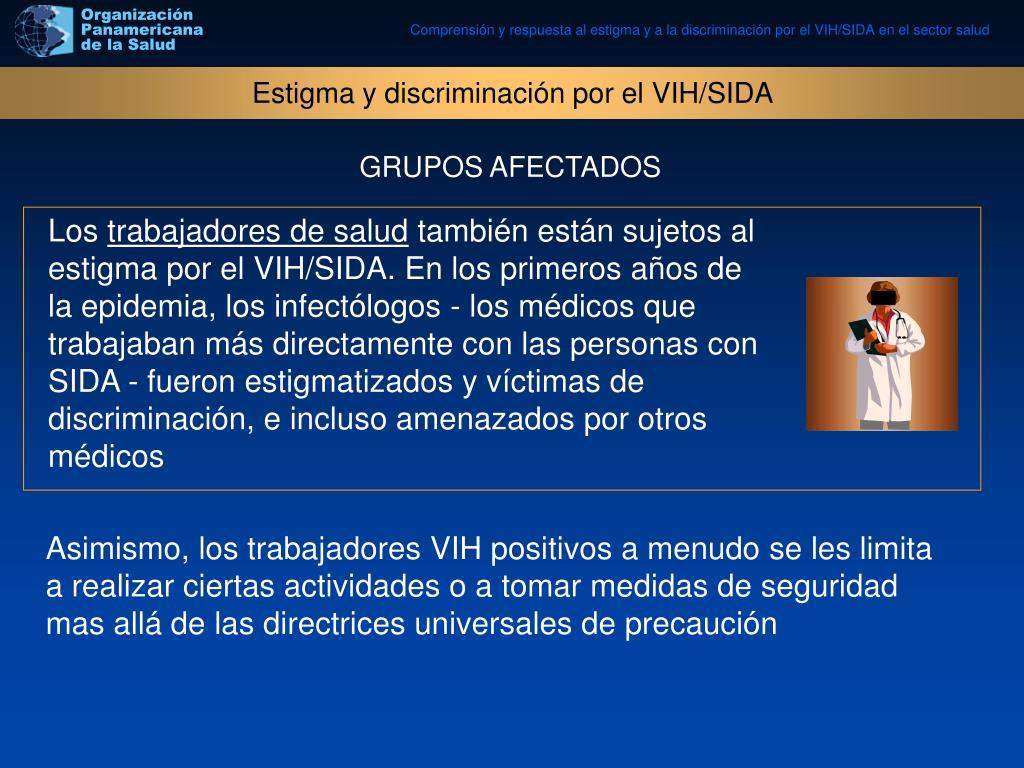 Estigma y discriminación por el VIH/SIDA
