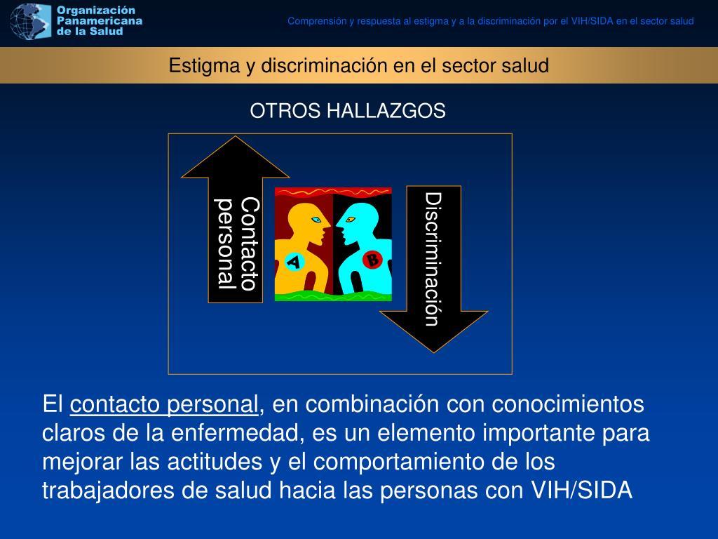 Estigma y discriminación en el sector salud