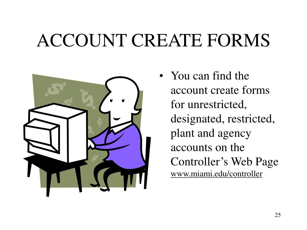 ACCOUNT CREATE FORMS