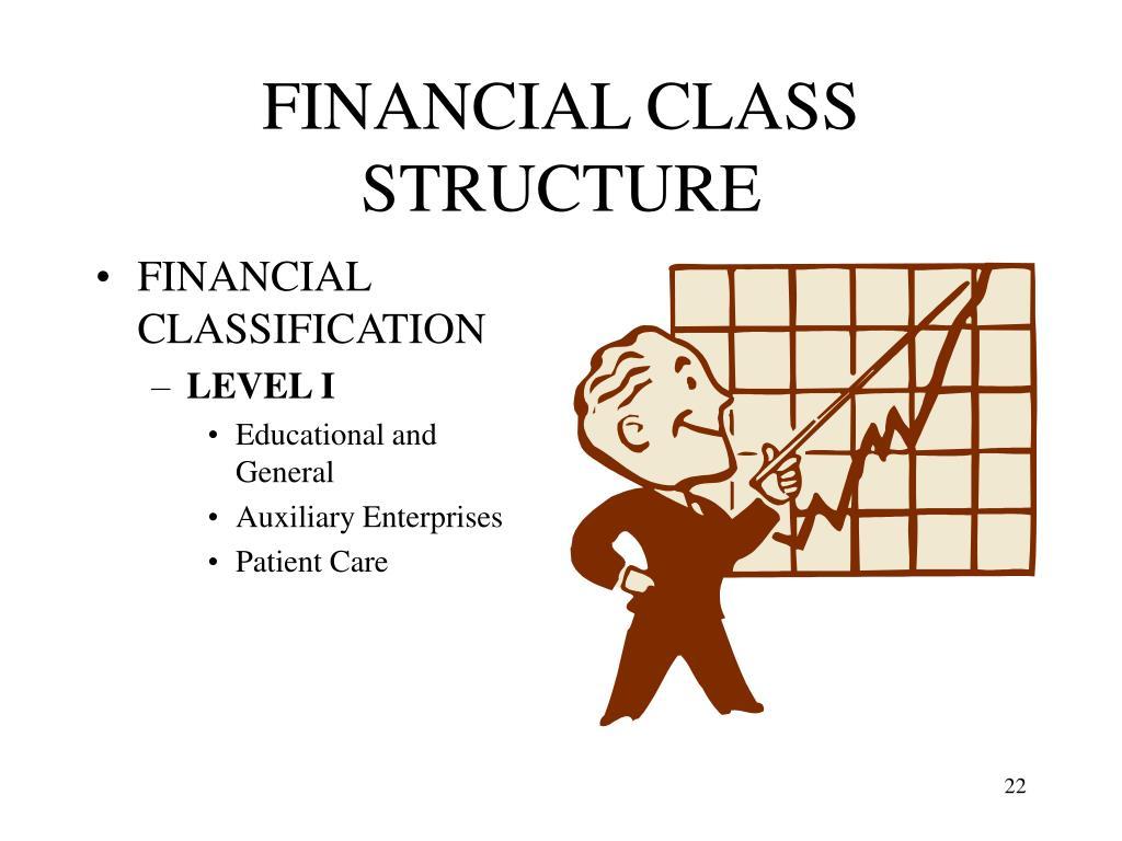 FINANCIAL CLASS STRUCTURE