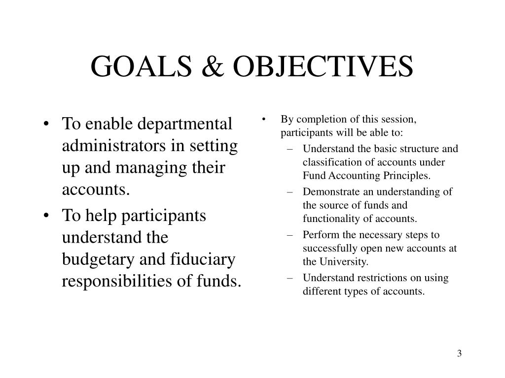 To enable departmental administrators in setting up and managing their accounts.
