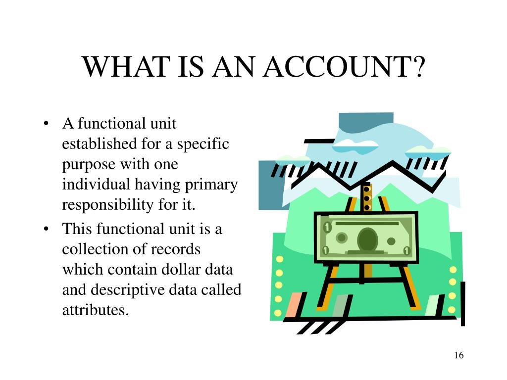 WHAT IS AN ACCOUNT?