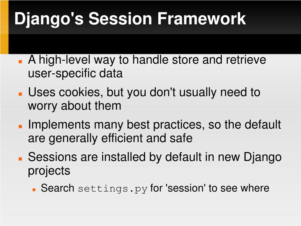 Django's Session Framework