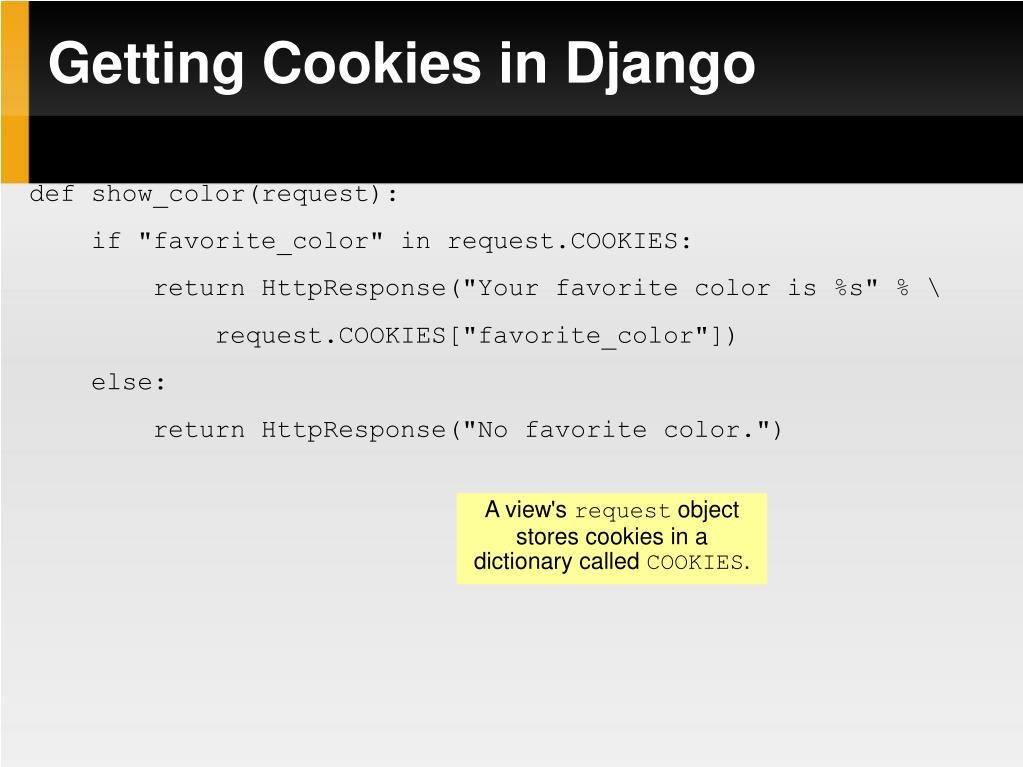 Getting Cookies in Django