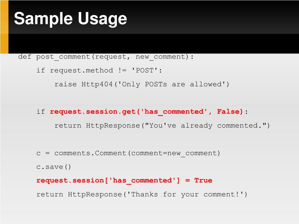 Sample Usage