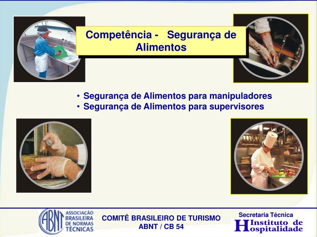 Competência -   Segurança de Alimentos