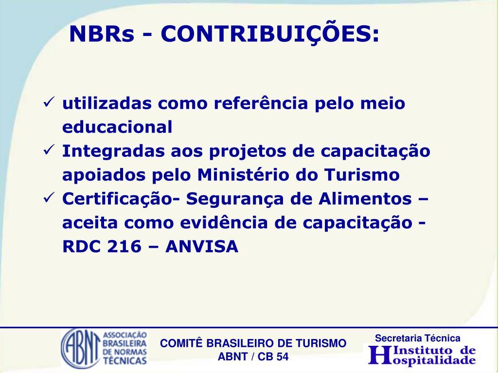 NBRs - CONTRIBUIÇÕES: