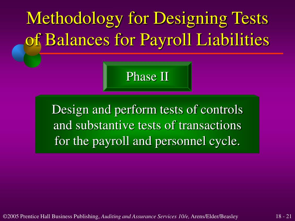 Methodology for Designing Tests of Balances for Payroll Liabilities