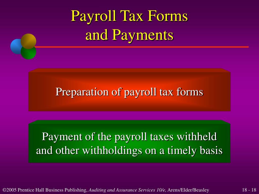 Payroll Tax Forms
