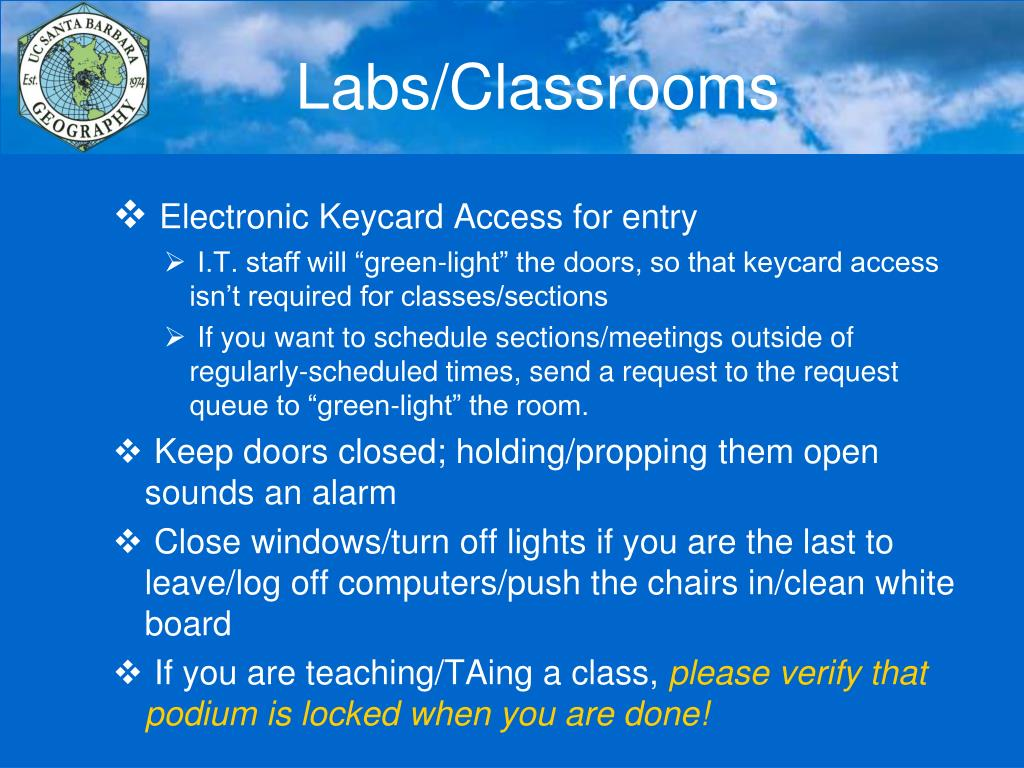 Labs/Classrooms