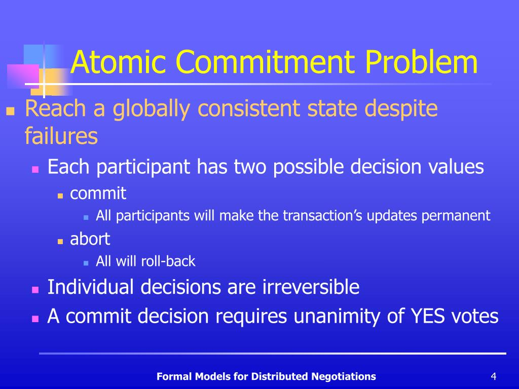 Atomic Commitment Problem