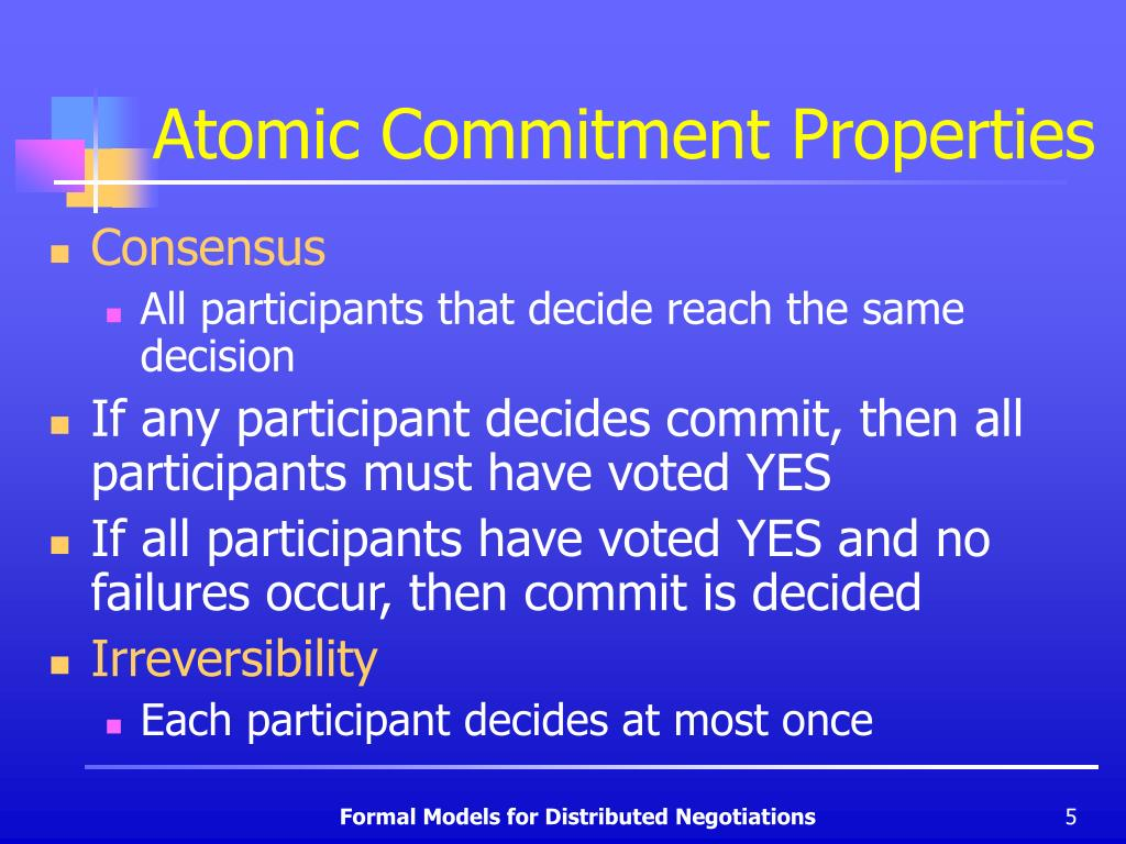 Atomic Commitment Properties