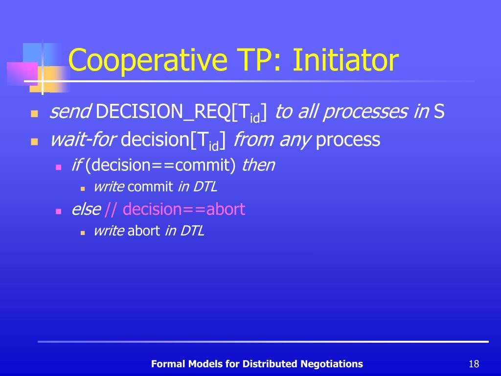 Cooperative TP: Initiator