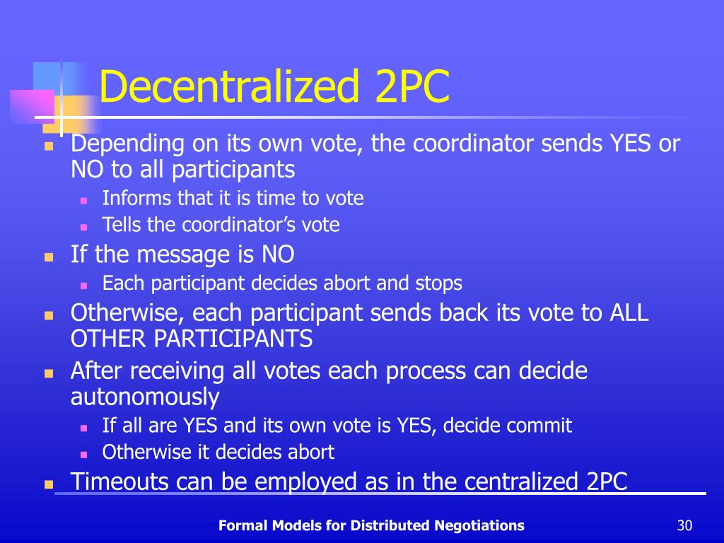 Decentralized 2PC