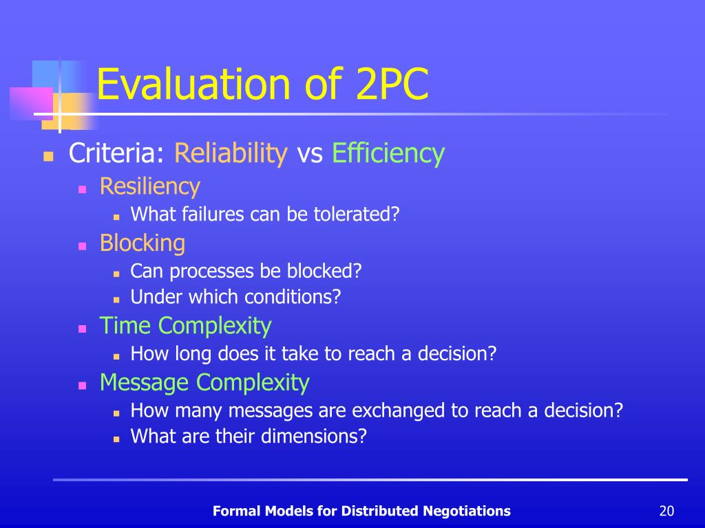 Evaluation of 2PC