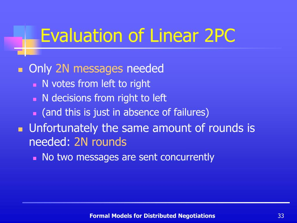 Evaluation of Linear 2PC
