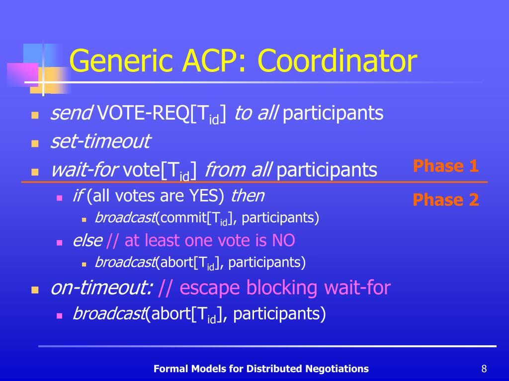 Generic ACP: Coordinator