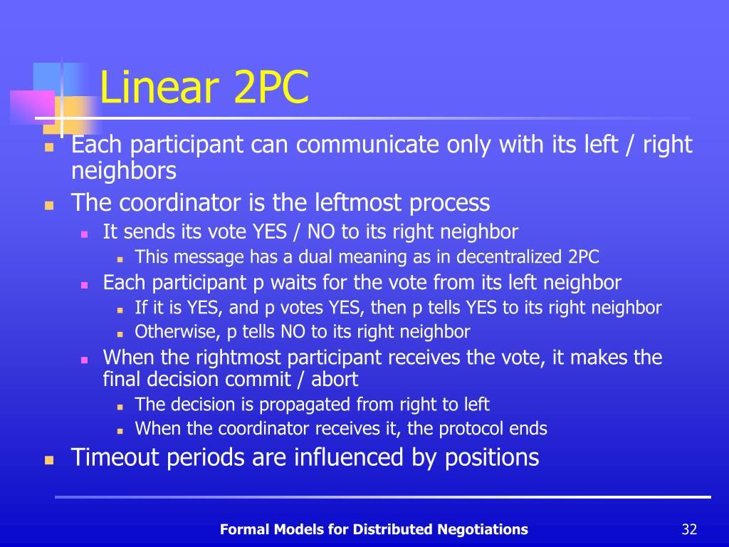 Linear 2PC