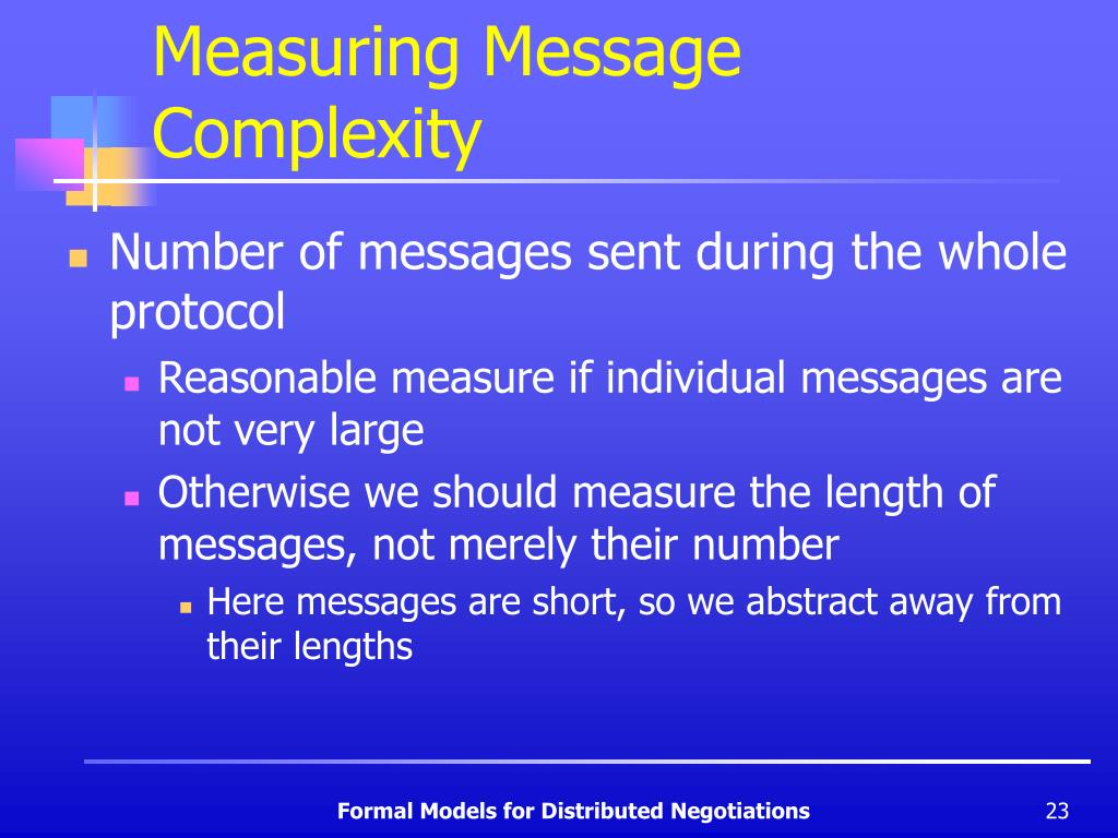 Measuring Message Complexity