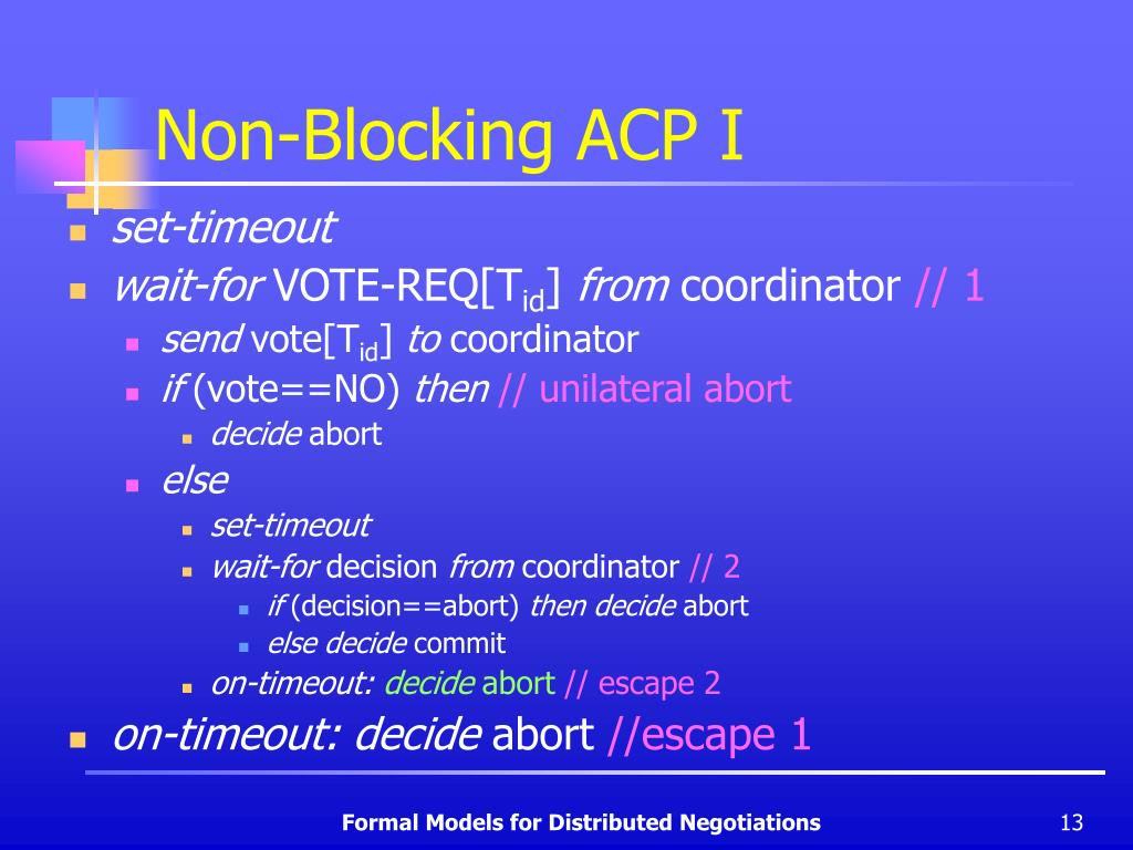 Non-Blocking ACP I
