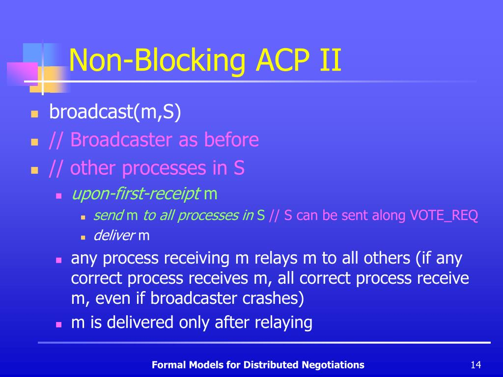 Non-Blocking ACP II