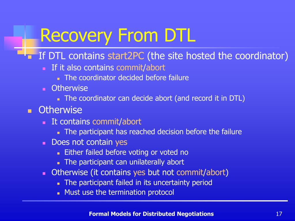 Recovery From DTL