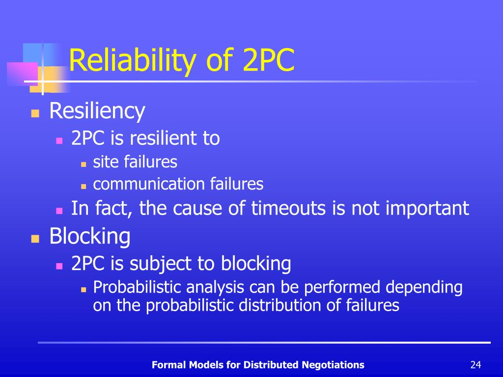Reliability of 2PC