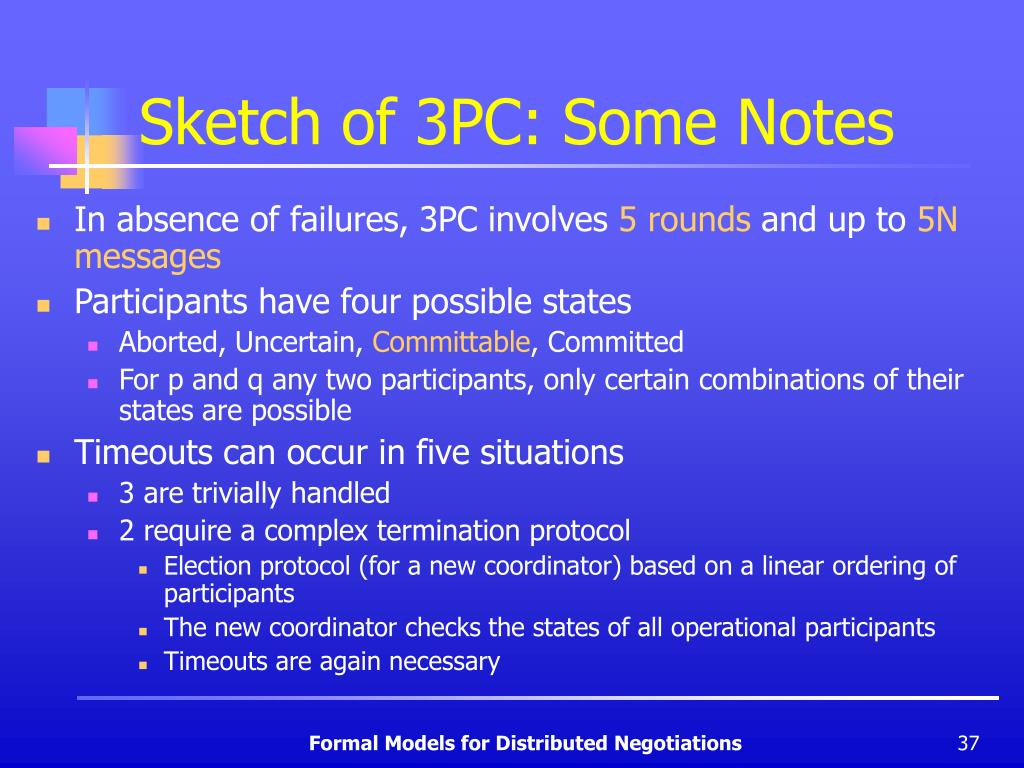 Sketch of 3PC: Some Notes