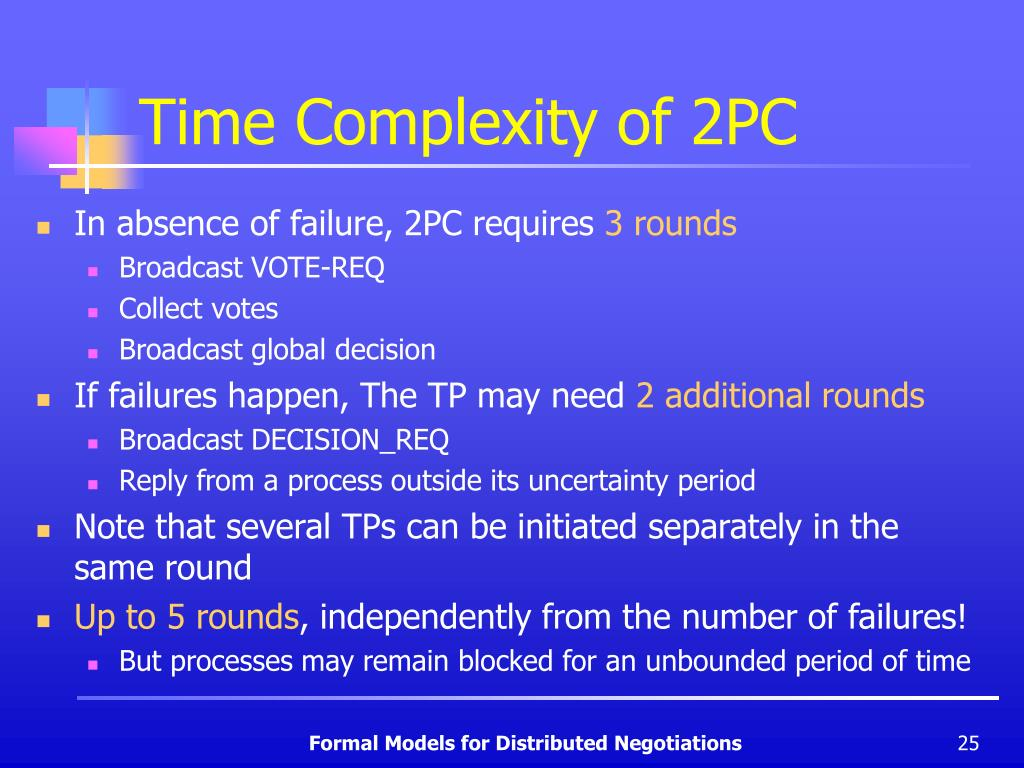 Time Complexity of 2PC