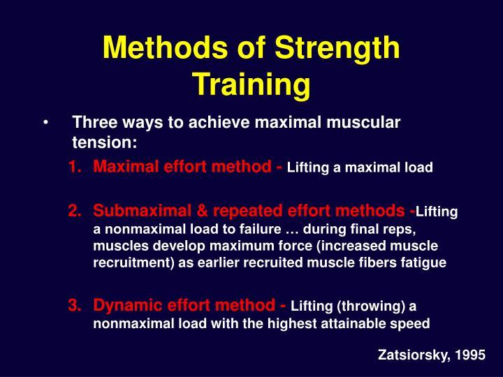 Methods of Strength Training