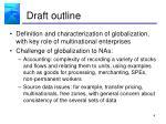 draft outline