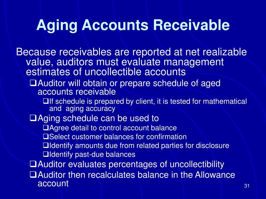 Aging Accounts Receivable