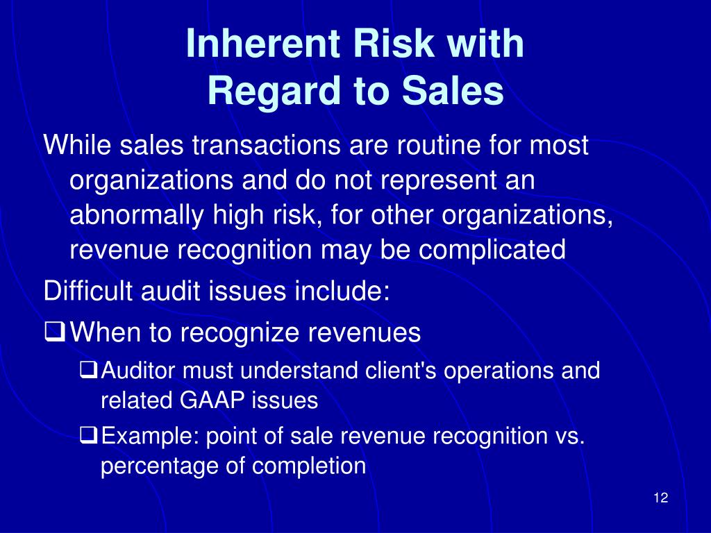 Inherent Risk with