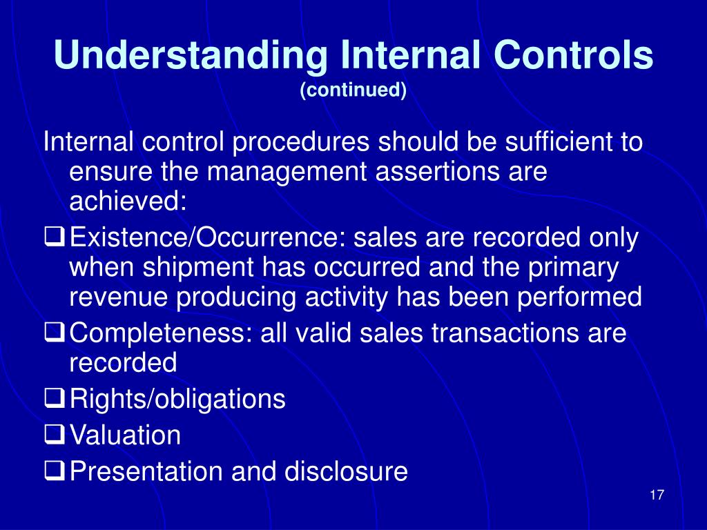 Understanding Internal Controls