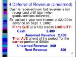 4 deferral of revenue unearned